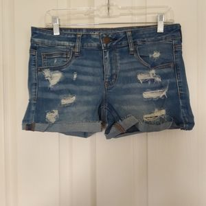 Nwt Womens American Eagle Distressed Jean Shorts